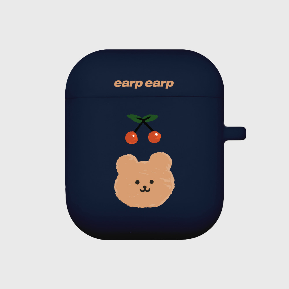 Cherry bear-navy(Air Pods)