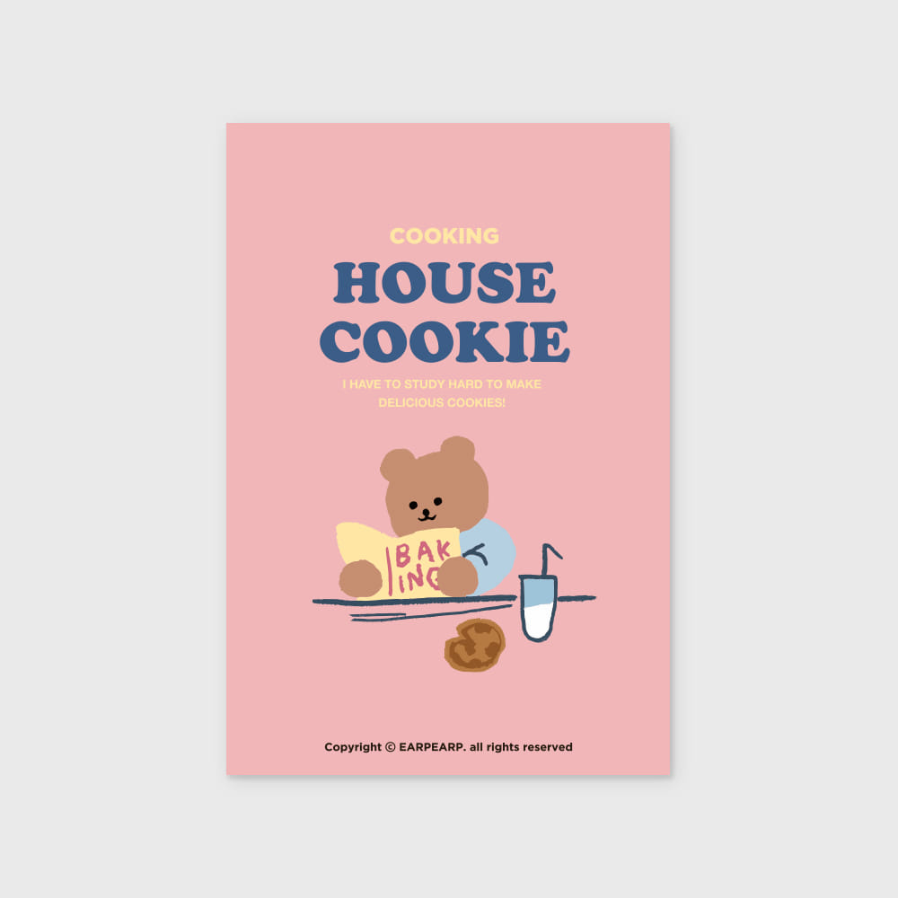 Cookie bear-pink(엽서)