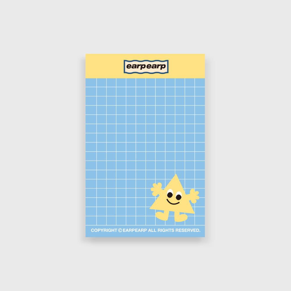 eyes triangle memo pad(떡메모지)