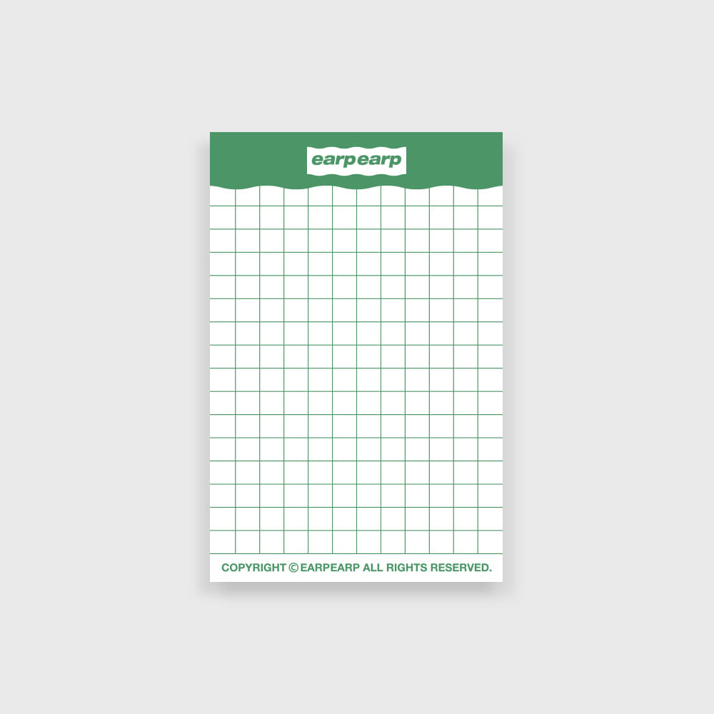 signature memo pad-green((떡메모지)
