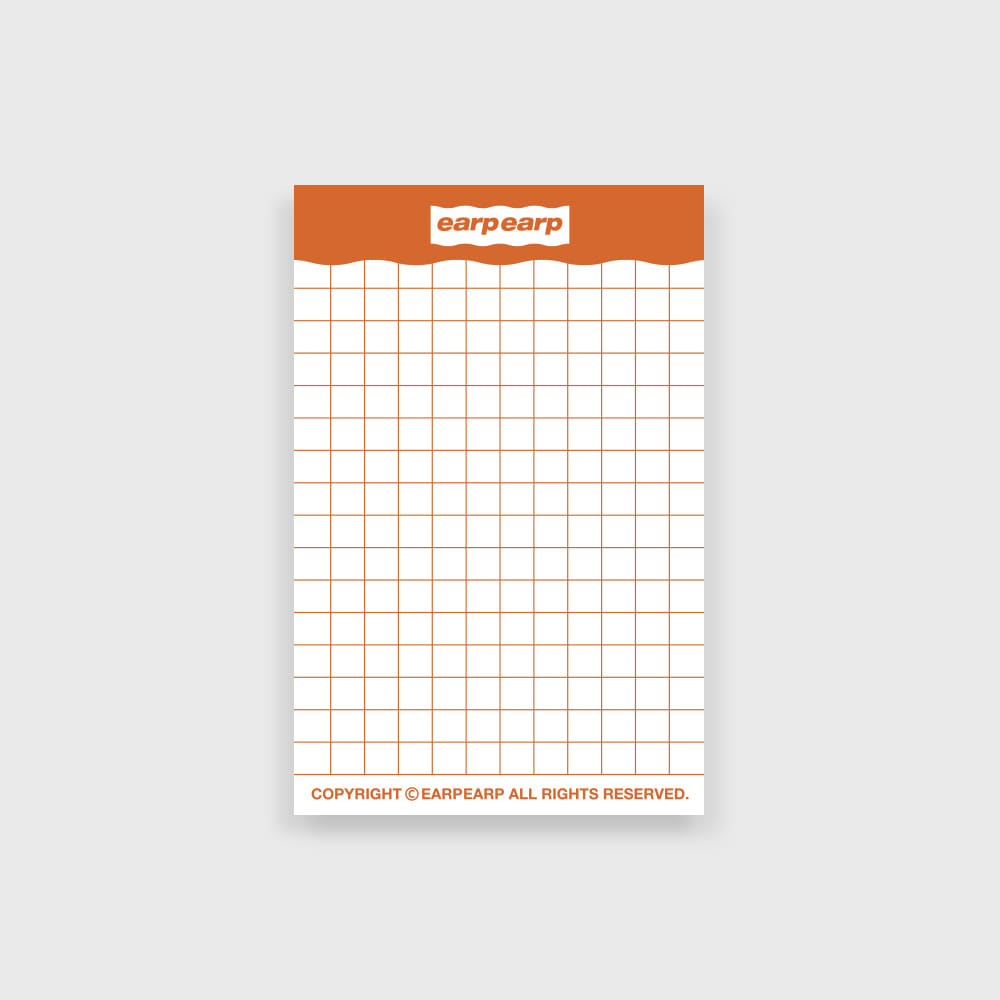 signature memo pad-orange(떡메모지)