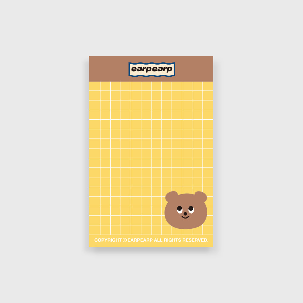 eyes bear memo pad(떡메모지)