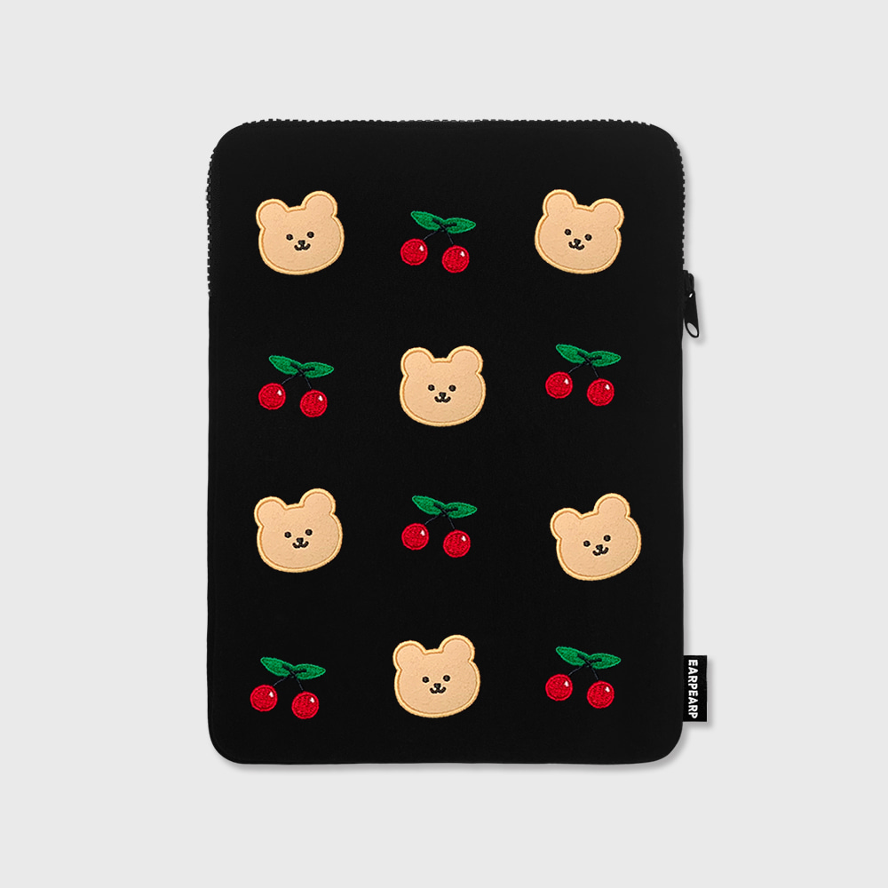 Dot cherry bear-ipad pouch(아이패드 파우치)