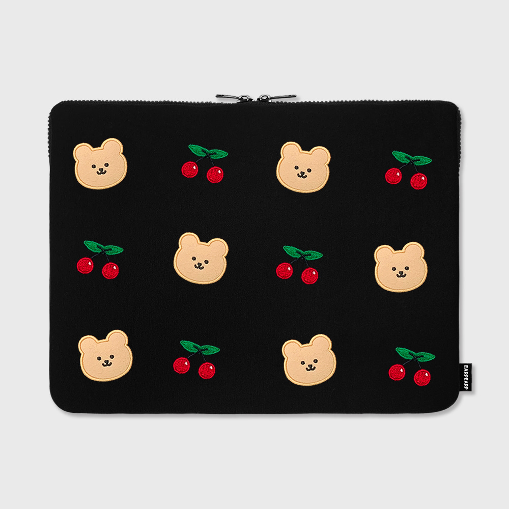 "Dot cherry bear-15inch notebook pouch(15""노트북 파우치)"