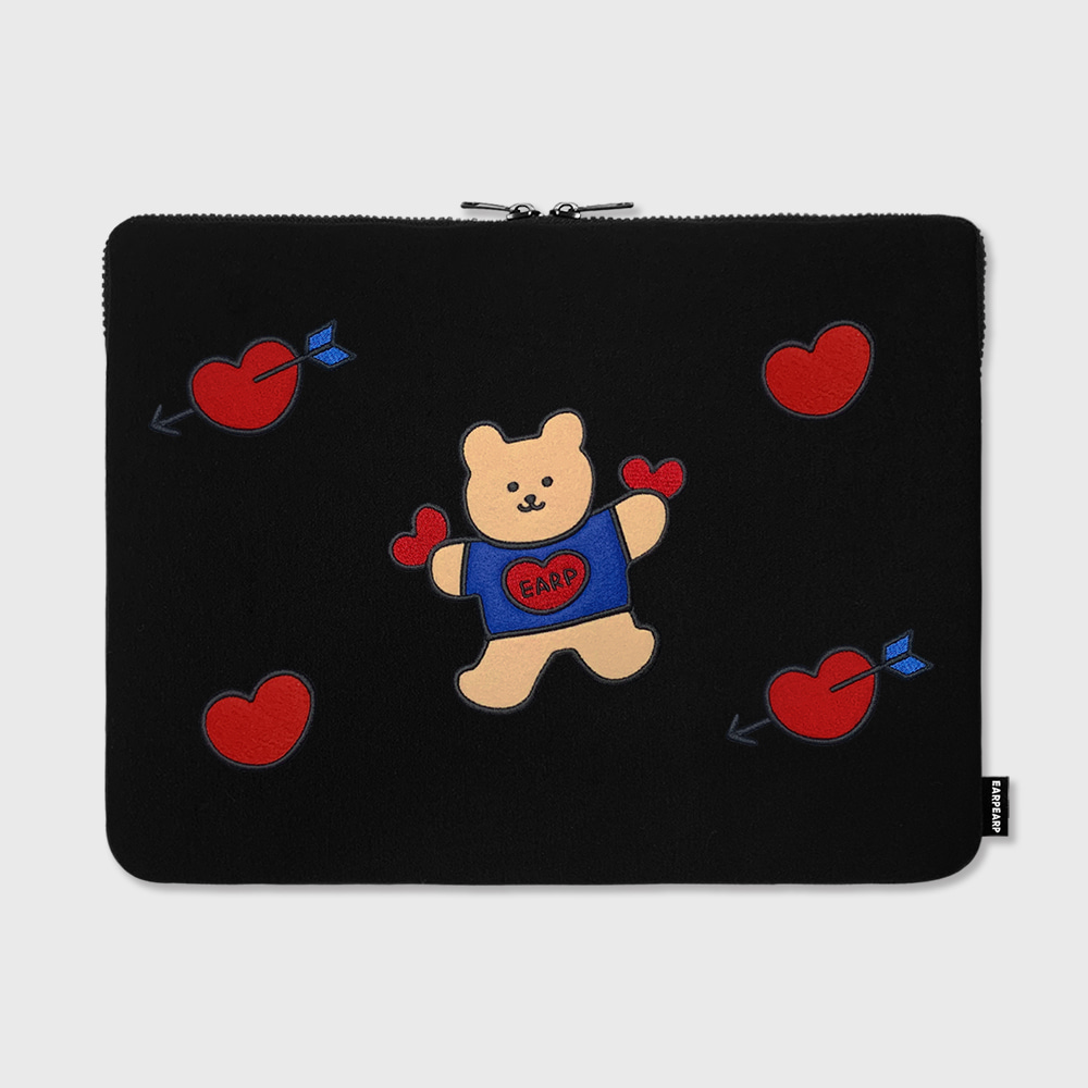 "Bear heart-15inch notebook pouch(15""노트북 파우치)"