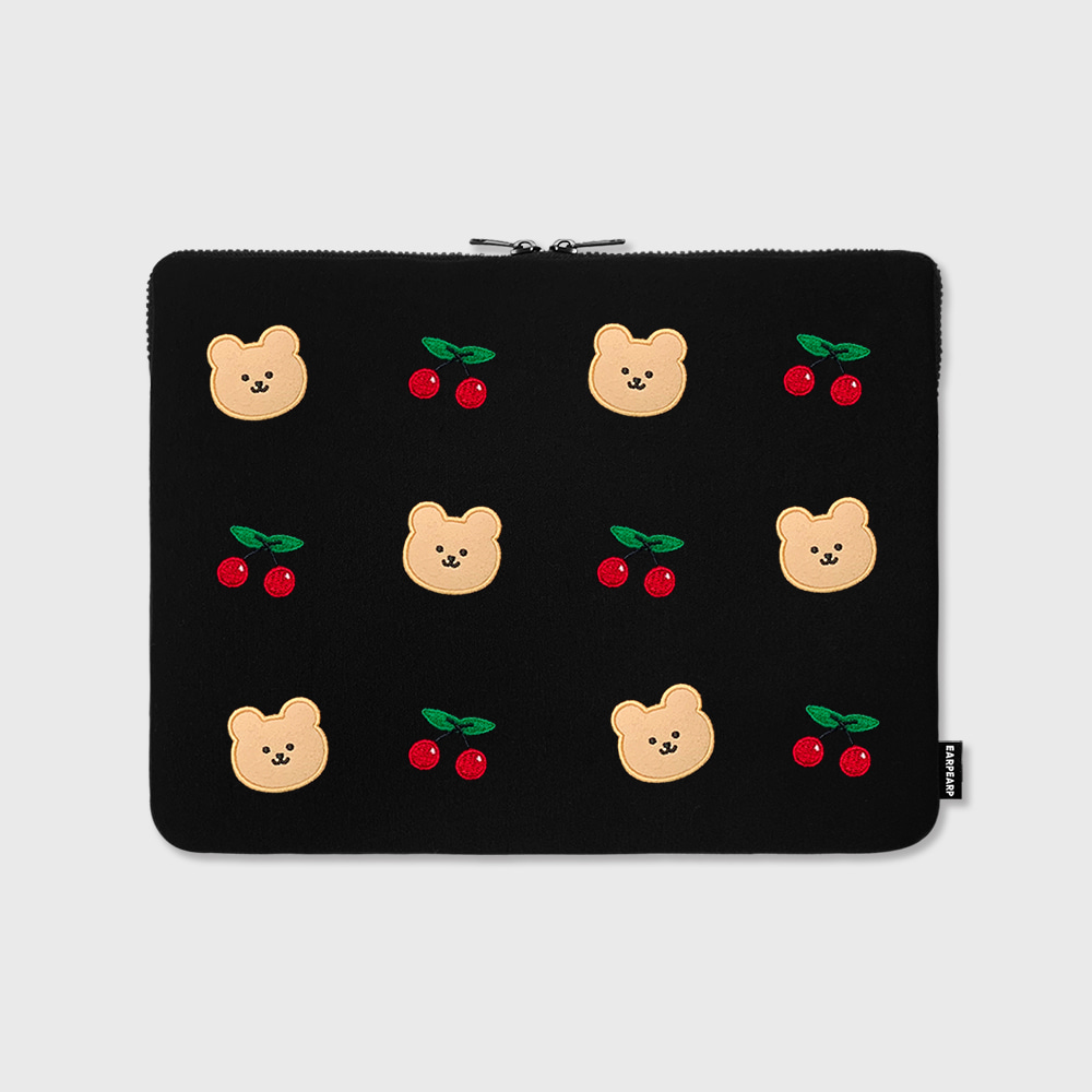 "Dot cherry bear-13inch notebook pouch(13""노트북 파우치)"