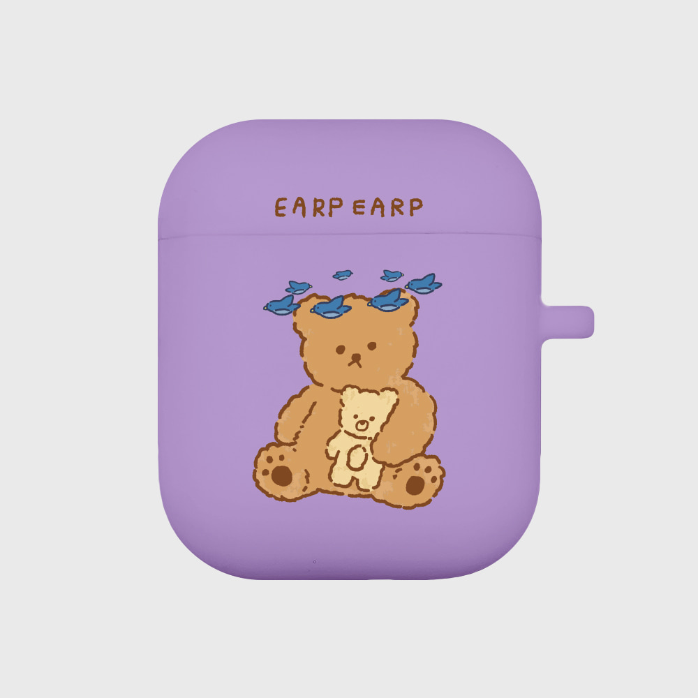 blue bird bear-purple(Air pods)