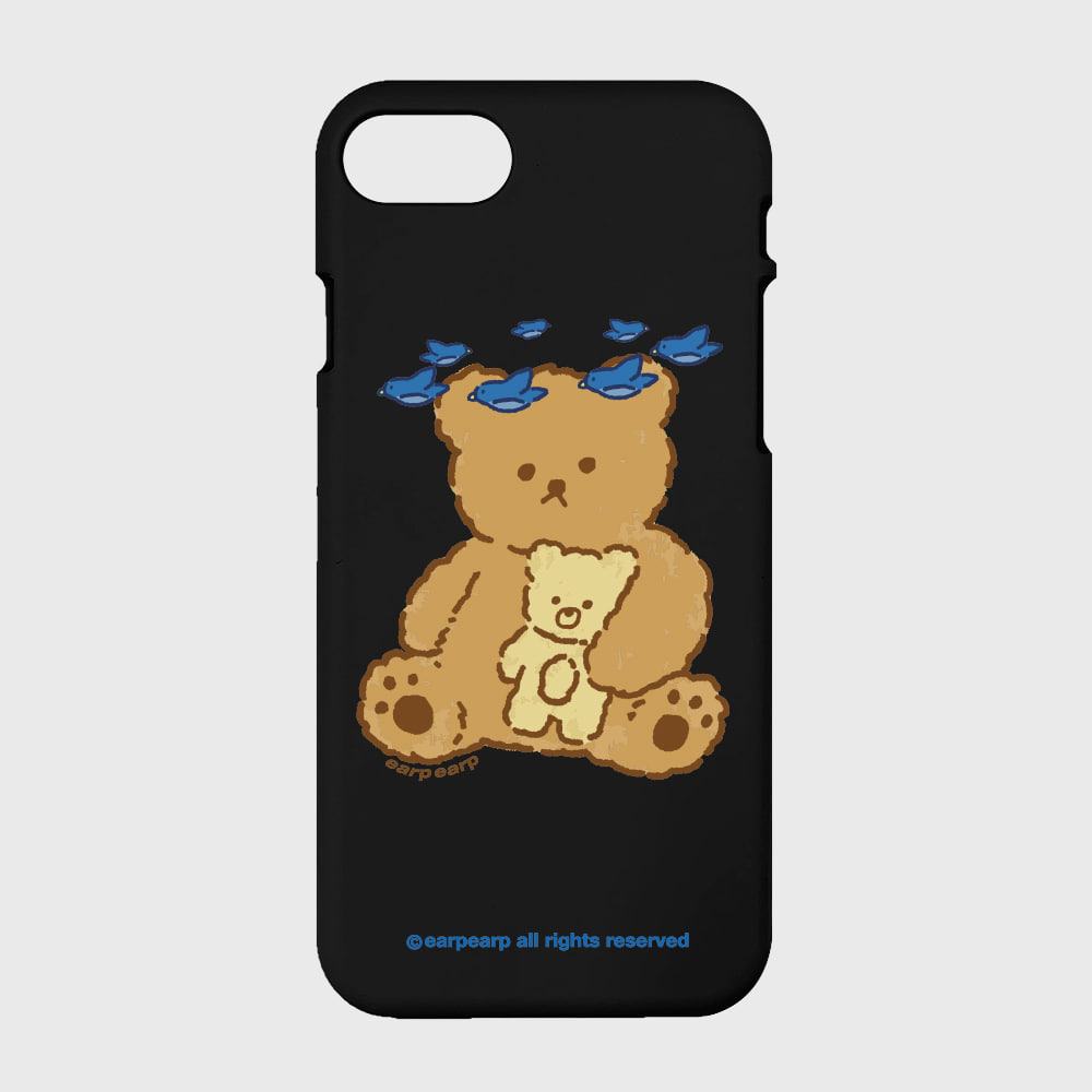 blue bird bear-black(color jelly)