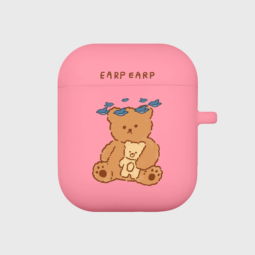 blue bird bear-pink(Air pods)