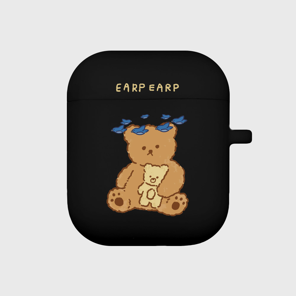 blue bird bear-black(Air pods)