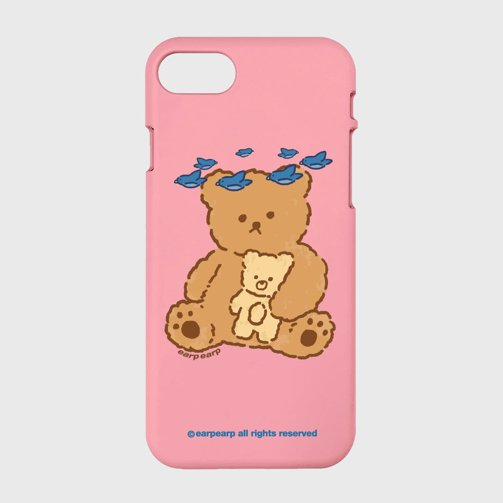 blue bird bear-pink(color jelly)