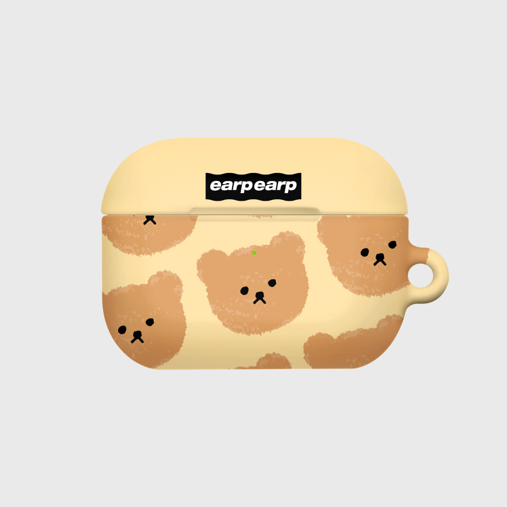 Dot big bear-ivory(Hard air pods pro)