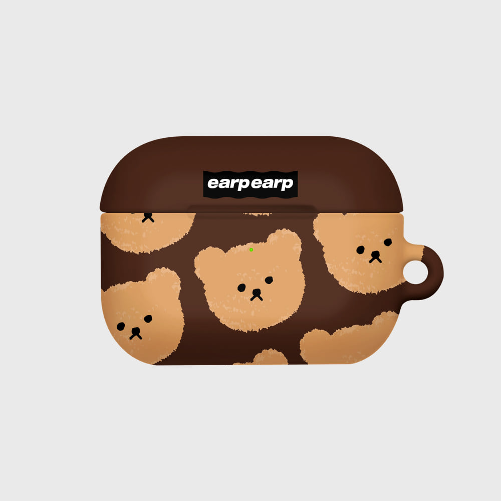 Dot big bear-brown(Hard air pods pro)