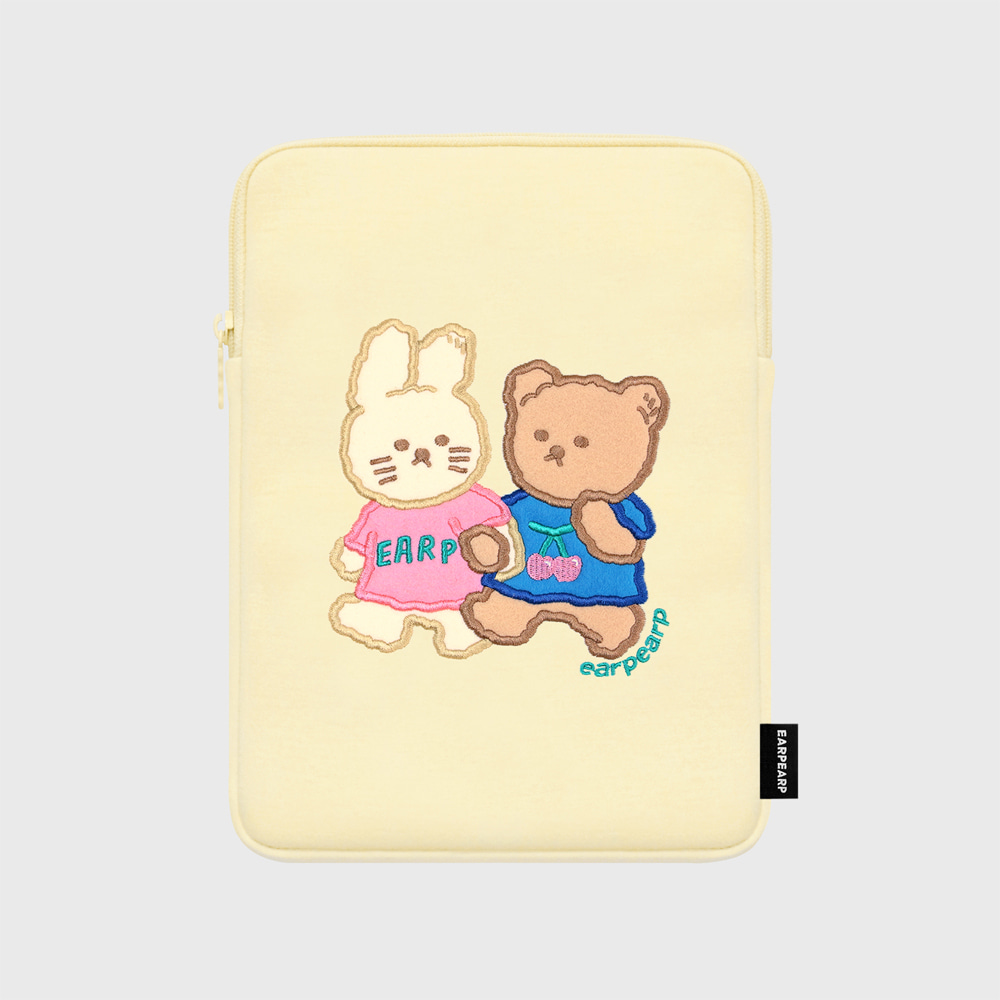 Nini friends-ivory-ipad pouch(아이패드 파우치)