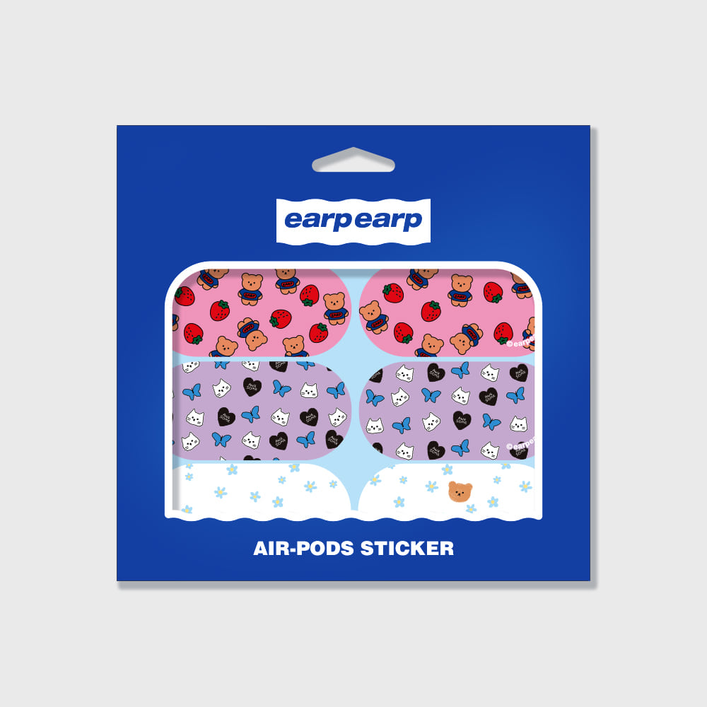 Earpearp air pods sticker pack-pastel blue