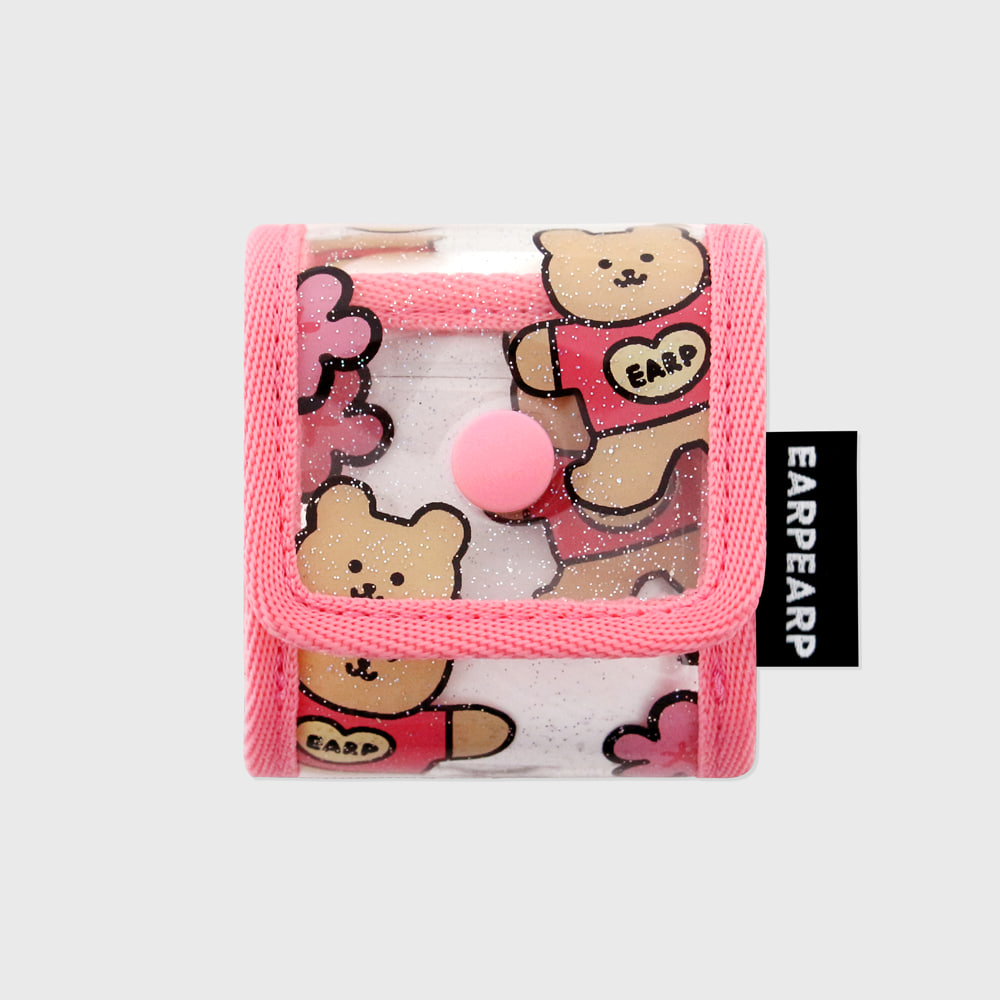 Blossom bear heart-pink(PVC Air pods)