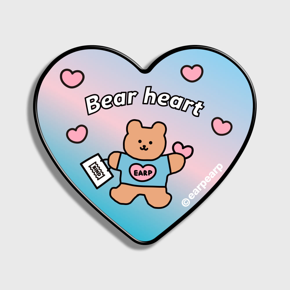 [EARPEARP X BIND] BEAR HEART-INDY BLUE/PINK(HEART TOK)