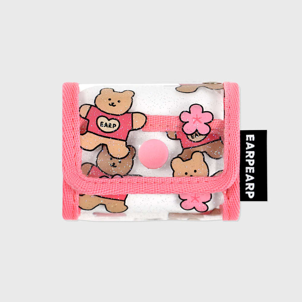 Blossom bear heart-pink(PVC Air pods pro)
