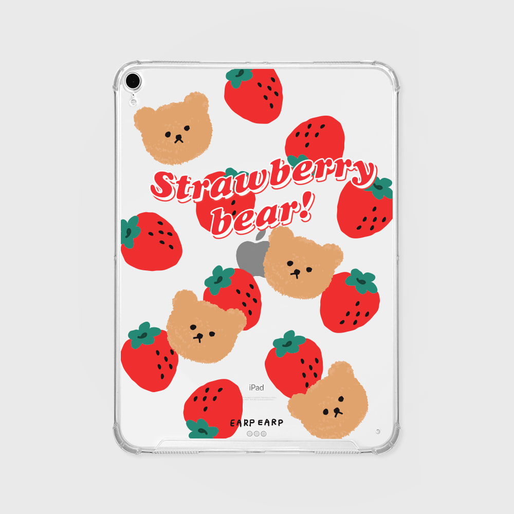 Big strawberry bear(아이패드-투명)