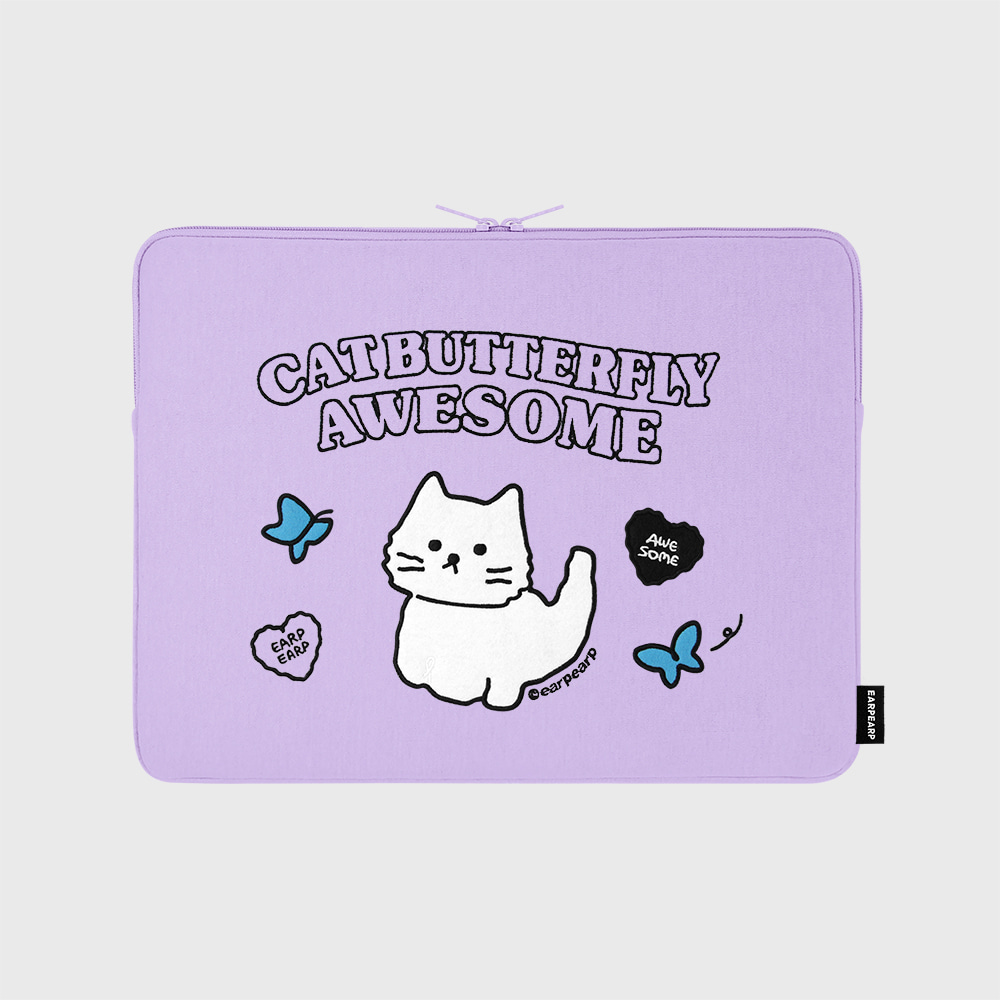 Awesome cat-purple-13inch notebook pouch(13인치 노트북 파우치)