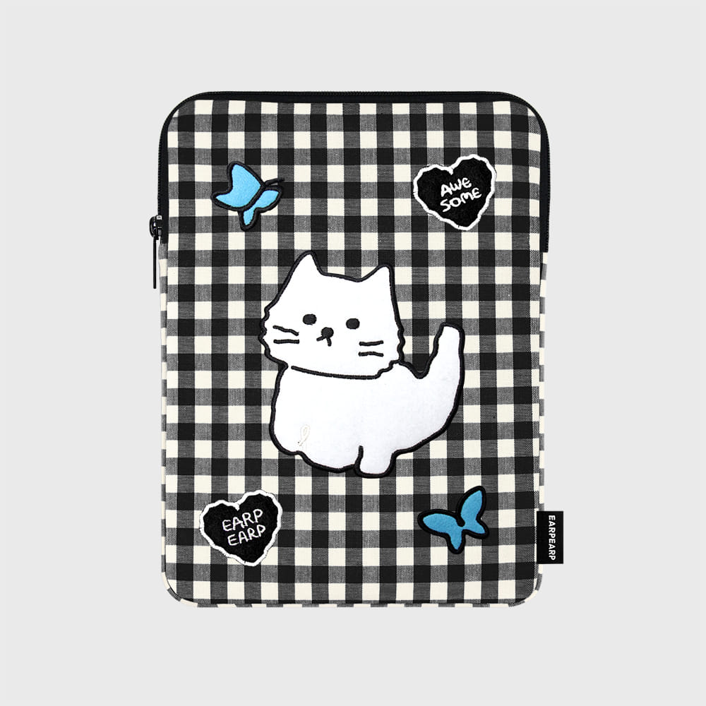 Awesome cat check-black(아이패드 파우치)