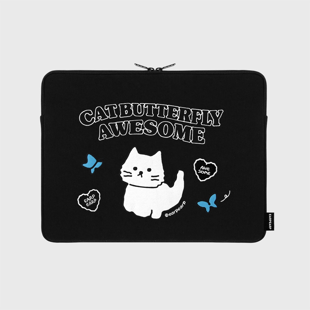 Awesome cat-black-13inch notebook pouch(13인치 노트북 파우치)