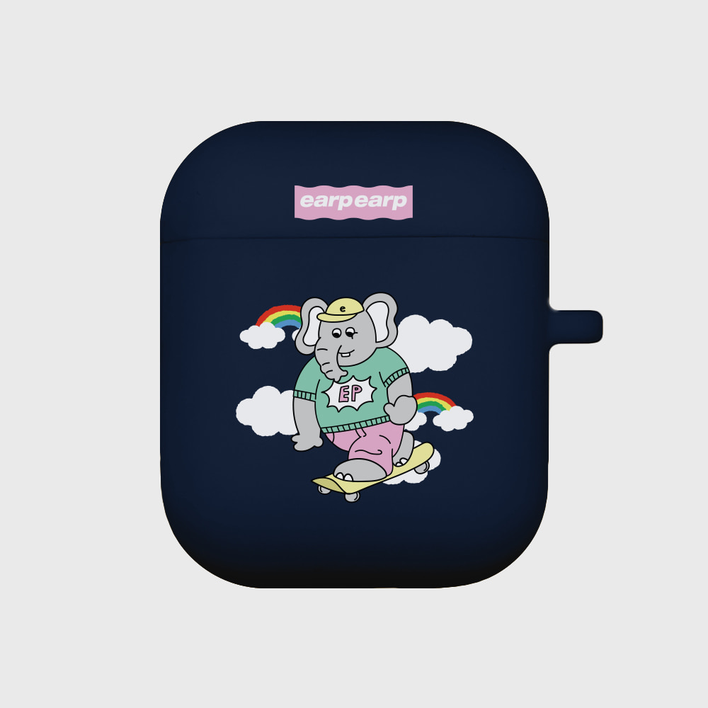 kkikki sky surfing-navy(Air pods)