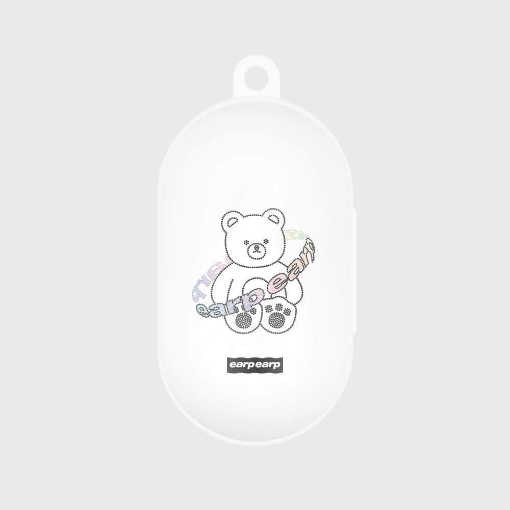 Twinkle gem bear-white(Buds jelly case)