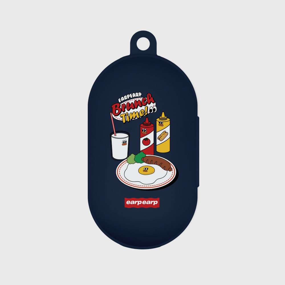 Brunch time-navy(Buds jelly case)