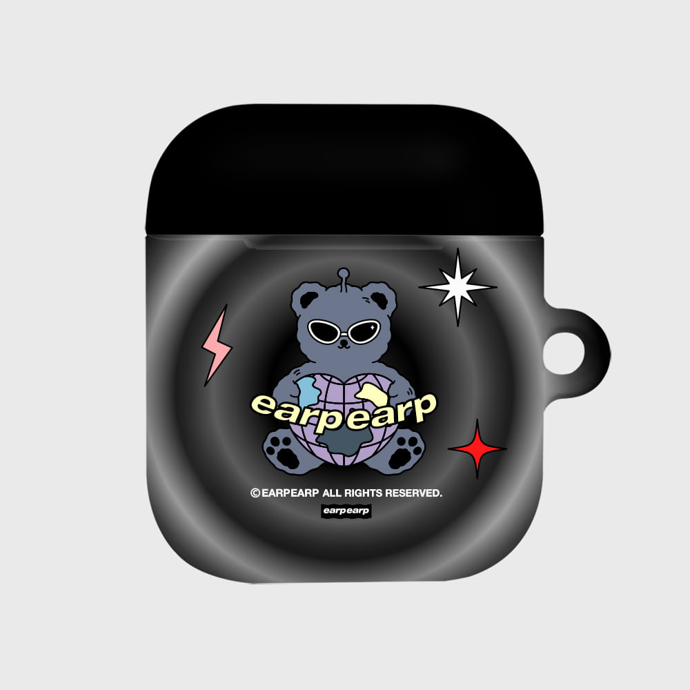 Space night bear-black(Hard air pods)