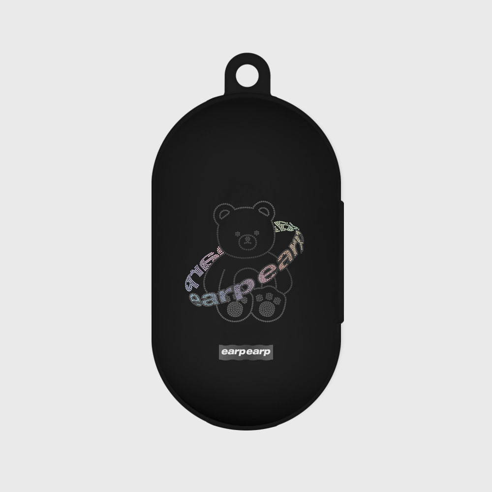 Twinkle gem bear-black(Buds jelly case)