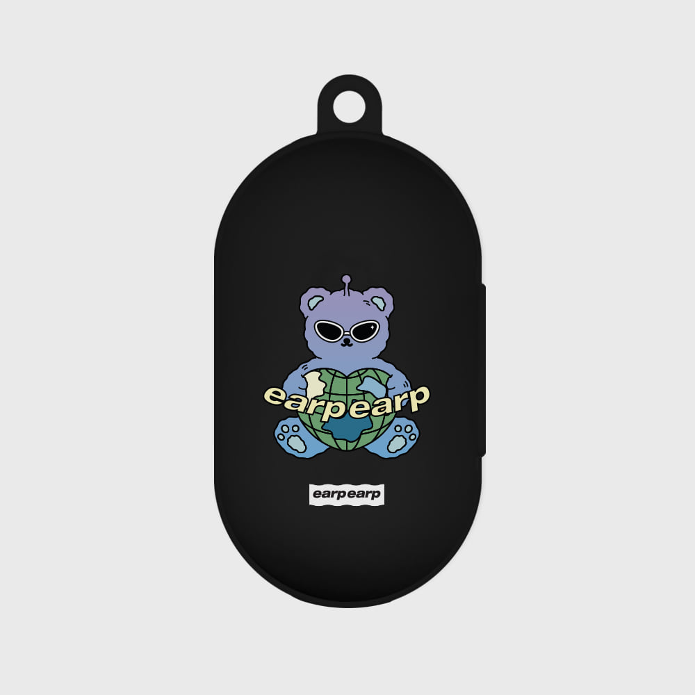 Space night bear-black(Buds jelly case)