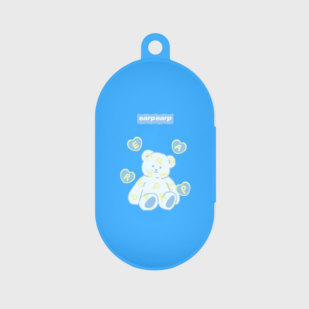 Soft bear-blue(Buds jelly case)
