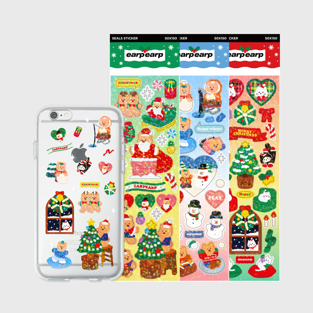 Jelly case sticker set(Christmas covy)