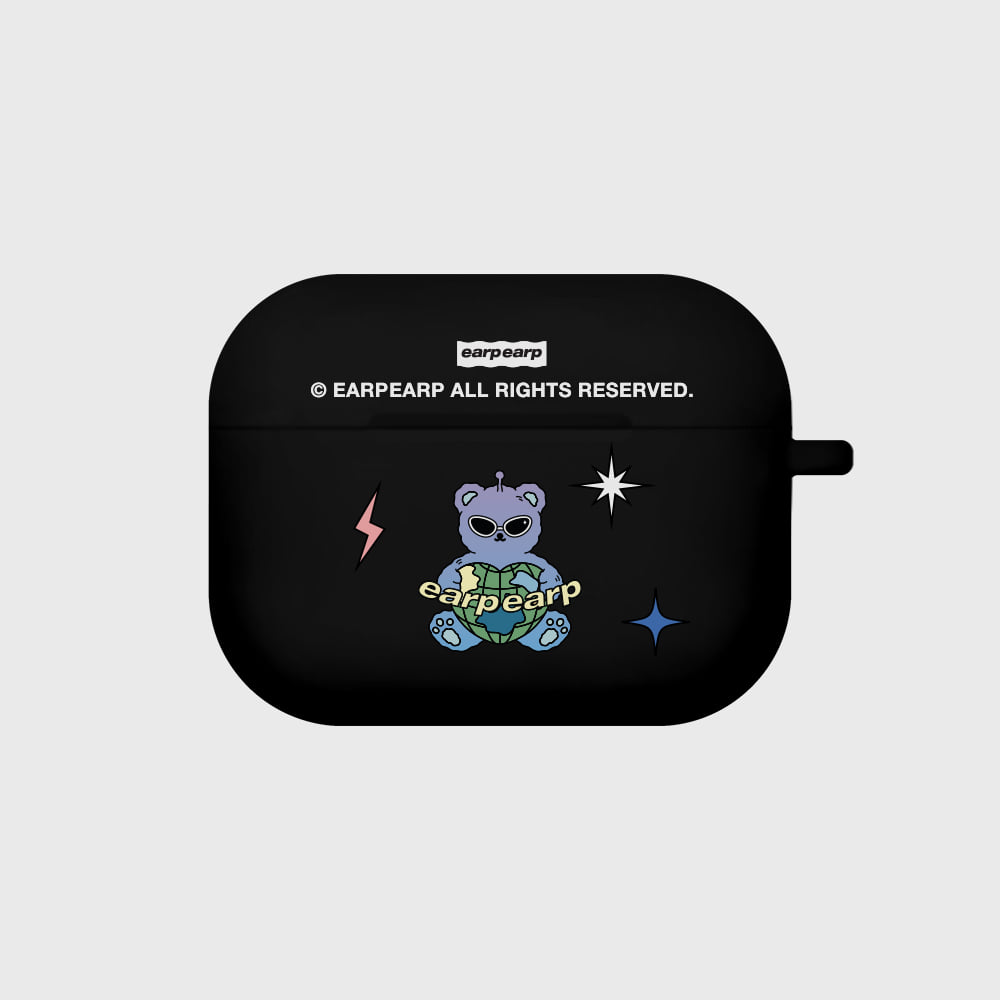 Space night bear-black(Air pods pro case)