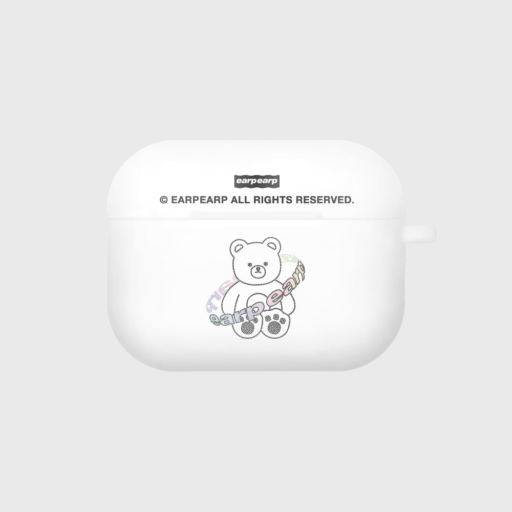 Twinkle gem bear-white(Air pods pro case)
