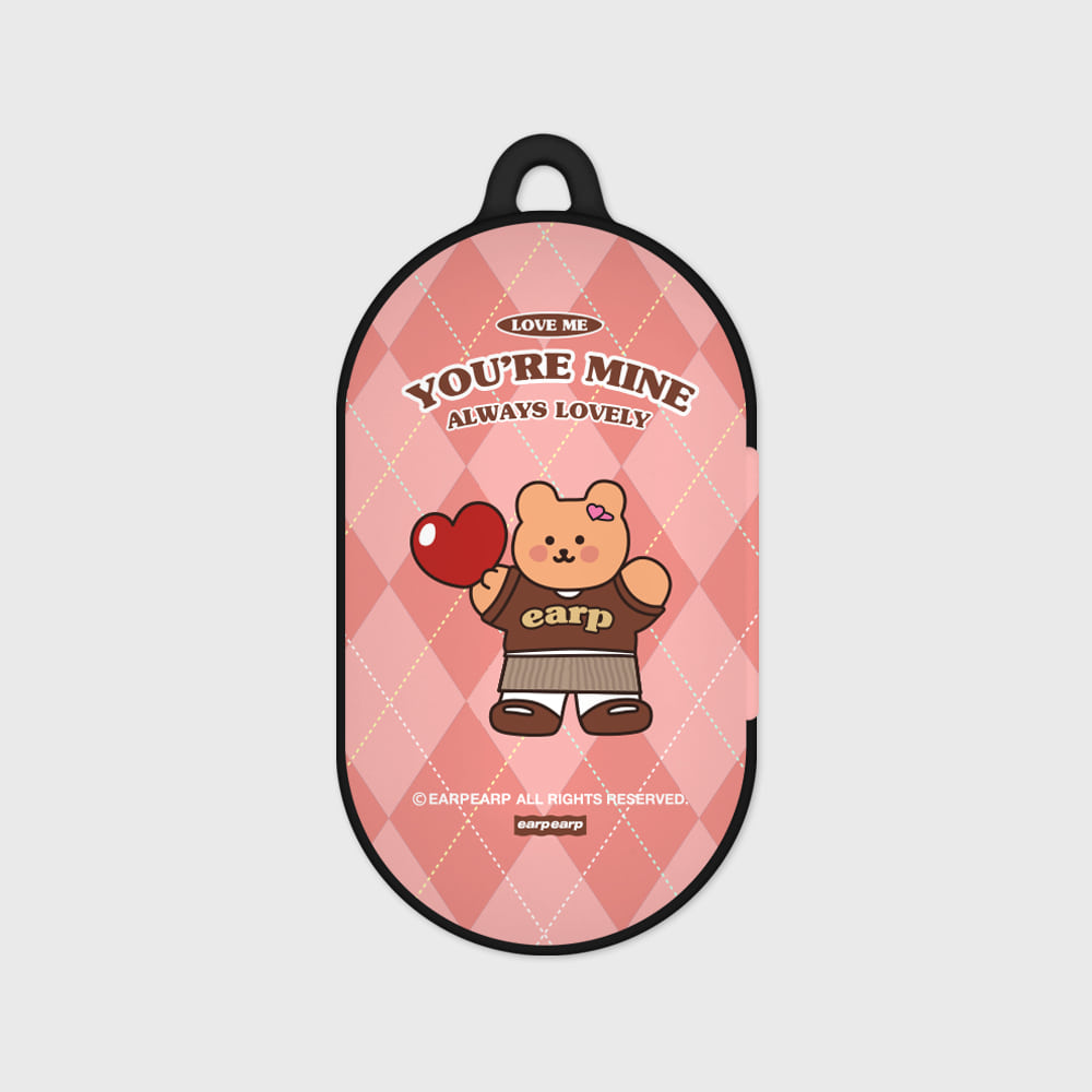 You are mine covy-pink(Buds hard case)