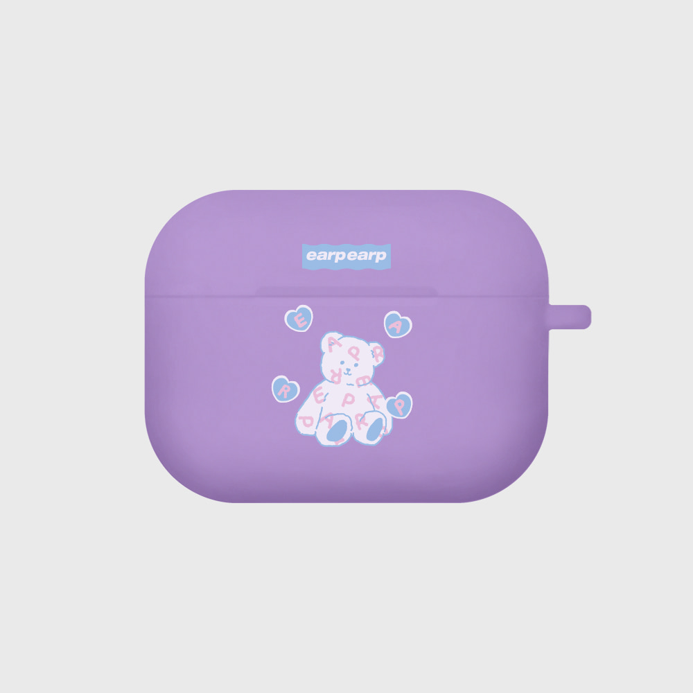 Soft bear-purple(Air pods pro case)