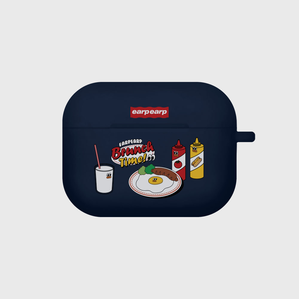 Brunch time-navy(Air pods pro case)